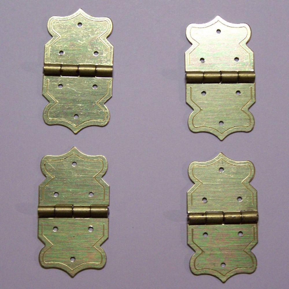 Artikel Nr-R00Y38F__A16RE-SCHANIER-GS-4__mini-eisen-beschlag-scharnier-set-in-goldgelb-moebelbeschlag-Nr-R00Y38F-